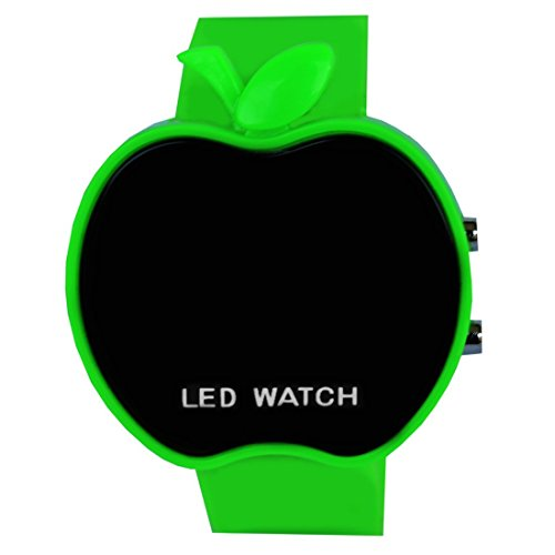 Meenakshi Handicraft Emporium Apple Led Digital Unisex Watch (Green, MH-038)