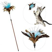 zaBouncer Katzenspielzeug   interaktiver Federstab mit Natur-Federn & Knisterpapier   Premium Federwedel   langlebige Katzenangel   hochwertige Materialien – artgerecht – stabil – unwiderstehlich - spannend