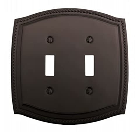 Baldwin 4790.112.CD Double Toggle Rope Design Switch Plate, Venetian Bronze by Baldwin