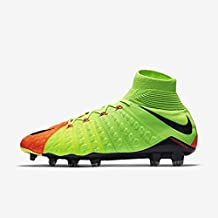 Botas de fútbol. Nike Hyper Venom Phantom III DF FG, Electric Green/Black-Ghost GRE,