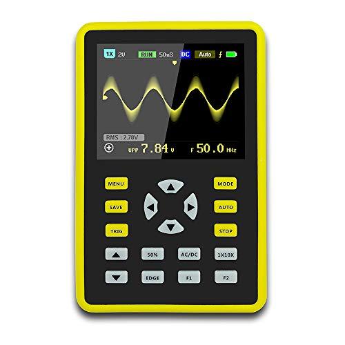 Oscilloscopio, mini oscilloscopio digitale portatile con schermo LCD professionale, 64 MB di...
