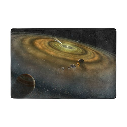 Ingbags Nebula Universe Starry Meteor Système solaire Salon salle à manger Zone Rugs 3 x 2 pieds Chambre Rugs Bureau Tapis moderne Tapis de sol Tapis Home Decor, multicolore, 6 x 4 Feet