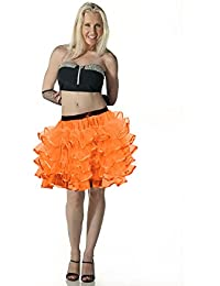Crazy Chick Women's Halloween Dance Costume 5 Layer Tutu Skirts Hen Night Party Fancy Dress