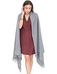 Shoreditch Merino Handwoven Pashmina and Blanket Scarf Grey