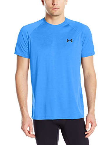 Underarmour Herren EU Tech Tee, Herren, Water/Black (Tee Athletic Sleeve Long)
