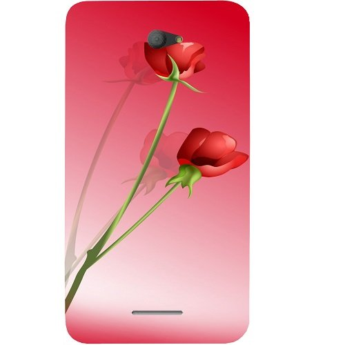 Casotec Red Roses Design Hard Back Case Cover for Sony Xperia E4