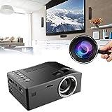 SO-buts Mini Projektor Mini Beamer 1080P HD LED Startseite MulitMedia Kino Kino USB TV VGA SD HDMI Mini Projektor für Smartphone, iPhone, iPad, Laptop, Tablet (Schwarz)