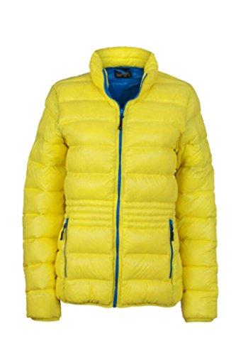 JAMES & NICHOLSON Leichte Daunenjacke mit Stehkragen in sportlichem Style yellow/azur