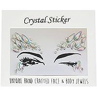 Crystal Tattoos Face Jewels - Festival Rhinestones Gems Stickers Tatuajes temporales Bindi Eyes Stones Mermaid for Rave Party Face Rocks