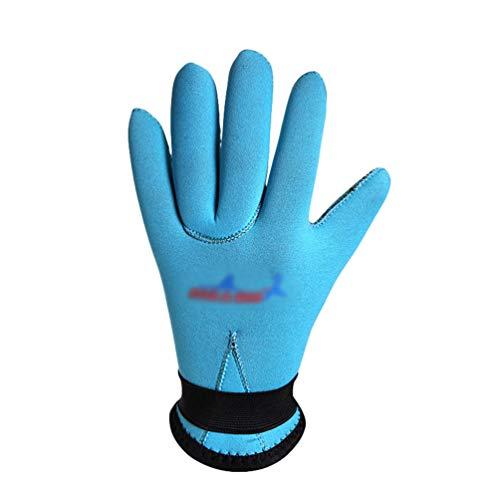 YuanDian Jungen Mädchen 3mm Tauchhandschuhe Warm Rutschfest Kratzfest Verdicken Surf Schwimmen Triathlon Schnorcheln Kinder Scubapro Tauchen Kajak Neopren Handschuhe Blau XL (12-14 Jahre)