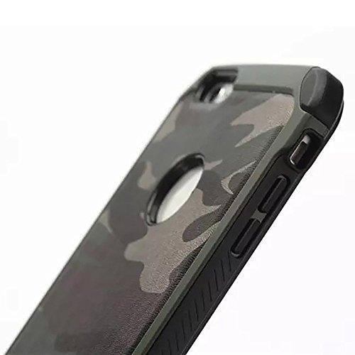 Funda de protección Armor Carcasa robusta y rígida Protector & Aelgada Antichoque Shockproof Iphone 6/6S (4,7') [Verde Militar] Facil&co®