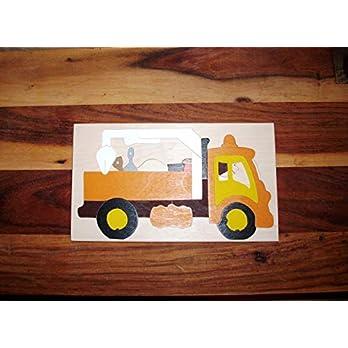 Holzpuzzle Lkw, zweilagig, 36 Teile