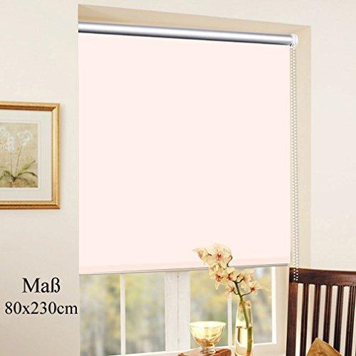 SHINY HOME® Tapparella roller/Tende a rullo oscuranti per finestra e casa (fissazione senza foratura),colore Beige,in Tessili poliestere,dimensione 80 x 230 cm