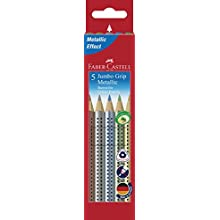 Faber-Castell 110993 5 Jumbo Grip Metallic Colour Pencil