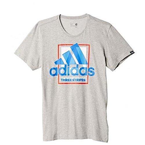 adidas Herren T-shirt Country Logo, Grau, XS, 4056562102368 Preisvergleich