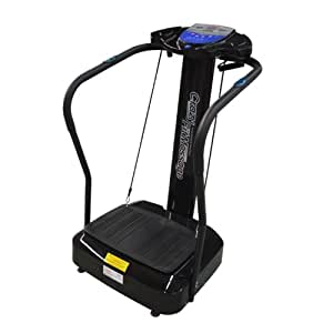 FoxHunter 2014 Black Crazy Fit Vibration Massage Plate Power 99 Speed Range with MP3 Loudspeaker 150kg Max User Weight 2000W