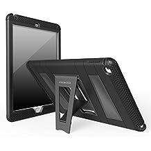 MoKo Funda para iPad Air 2 - Plegable Silicona Durable Protector con Función de Soporte Trasera Dura Cover Case Para Apple iPad Air 2 (iPad 6) 9.7 Pulgadas Tableta, NEGRO