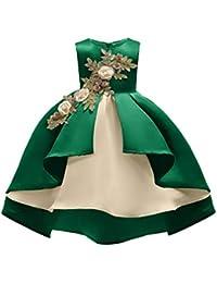 f3fb6d297 Bola de la boda de la muchacha Vestido de fiesta de bodas de cumpleaños para  niñas Baile de gala Vestido de dama de…
