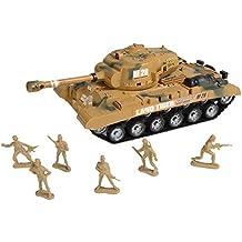 """""""Combat Mission"""" Boys fricción Desarrollado tanque de ejército y soldados Militar Playset"""