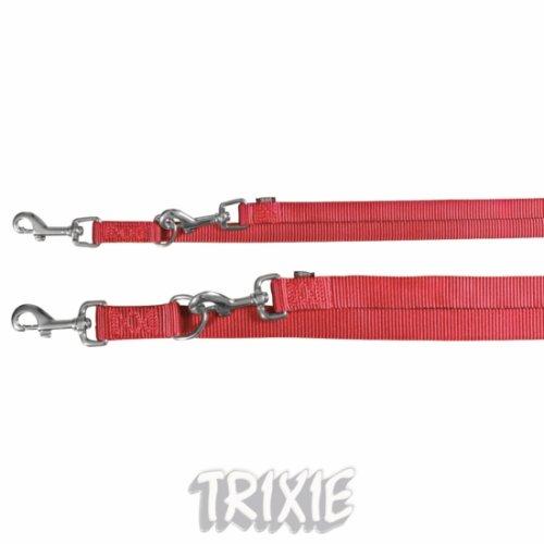 Trixie - Premium - Guinzaglio doppio regolabile (L-XL) (Rosa)