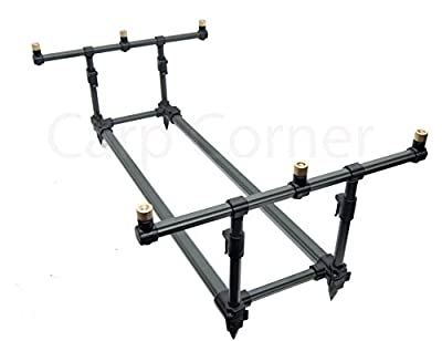 Carp Fishing Profiler Rod Pod With Case And Buzzer Bars Very Stable Square Shape by Carp Corner