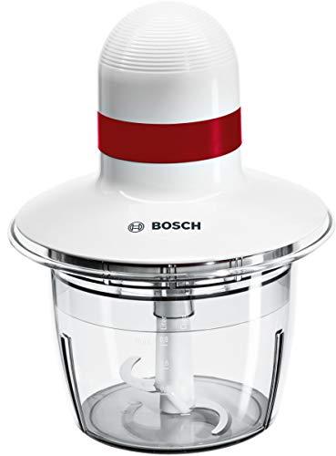 Bosch MMRP1000 Tritatutto Universale, 400 W, 0.8 Litri, 0 Decibel, Plastica, Bianco/Rosso