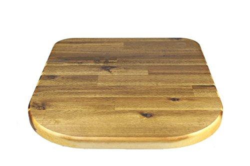 StreamBrush® Premium - Gleitbrett Holz-Gleiter Untersetzer aus Massivholz für den Thermomix TM5 / TM6 / TM31 Akazie SE