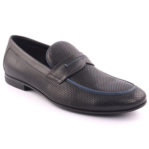 Oz Uomini Telldin Vestito Di Pelle Slip-on Formale Prom Wedding Party Office Oxford Uk Taglia 7-11 - A015-5-1 Nero