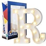 Don Letra - Letras Decoración LED Lámparas Decoradas LED Luces Decorativas LED Luz de Decoración Diseño de Letras del Alfabeto A-Z Color Blanco (R)