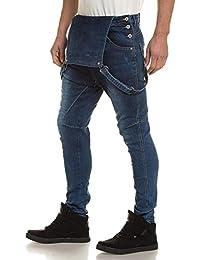 BLZ jeans - Salopette homme en jean bleu délavé