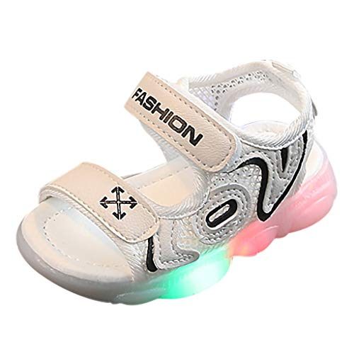 LILIHOT Kinder-Baby-Buchstabe-Strand Führte Helle Leuchtende Laufsport-Sandalen-Turnschuh-Schuhe Unisex-Kinder LED Sneakers Mode Blinkschuhe Low-Top Casual Outdoor Sneakers