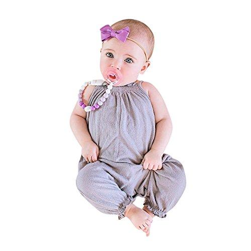 461cdc5b7 Amlaiworld Ropa bebé Verano Mono de Mameluco de Correa de bebé niñas.
