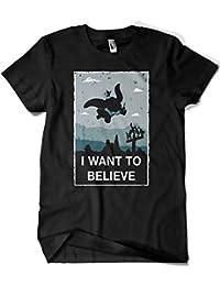 624-Camiseta Alien - Dumbo I Want To Believe (Ideas C. P.)
