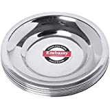 Embassy Stainless Steel Glass Lid/Cover, Pack of 12, Size 5 (Diameter 9.9 cms)