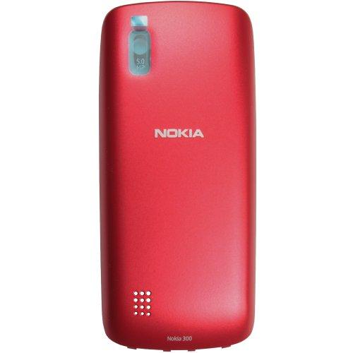 Original Nokia Akkudeckel für Nokia Asha 300 - red / rot (Akkufachdeckel, Batterieabdeckung, Rückseite, Back-Cover) - 0259291