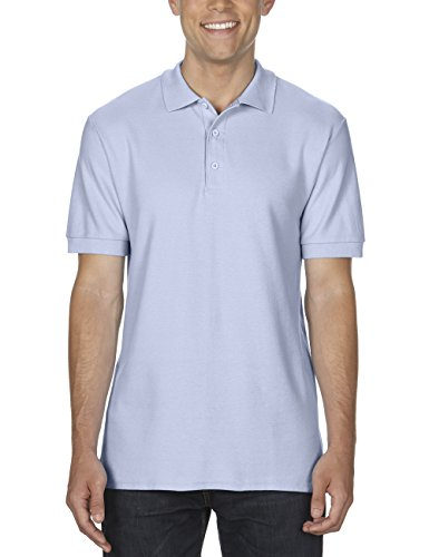 GILDAN Herren Poloshirt Adult Premium Cotton Double Piqué Polo/85800, Einfarbig Blau (Light Blue 69)