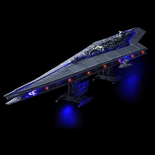 Conjunto de luces Lightailing para (Star Wars Destructor Estelar) Modelo de Construcción de Bloques - Kit de luz LED compatible con Lego 10221(NO incluido en el modelo)