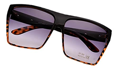 Ardisle Sunglasses Designer Mens Man Ladies Womens Large Big Oversized Wrap Shades Retro (Leopard)