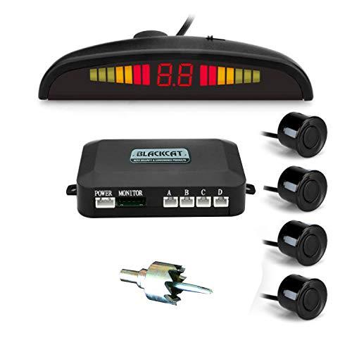 Car Reverse Parking Sensor & Screen (LED) on Dashboard with Human Voice; 4 ultrasonic sensors