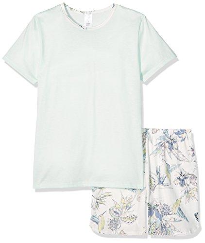 Calida Mädchen Zweiteiliger Schlafanzug Kolibri Girl Pyjama Kurz, Blau (Opal Blue 581), 140 (Mädchen Kurzer 2 Schlafanzug Teiliger)