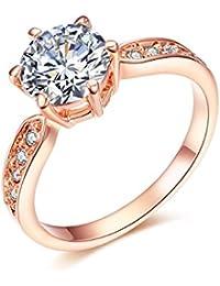 6e88708ee1fb Amazon.es  anillos mujer oro 18k - Bisutería   Anillos  Joyería