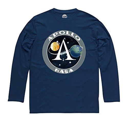 Official NASA Apollo Logo Langarmshirt, Herren Dunkelblau