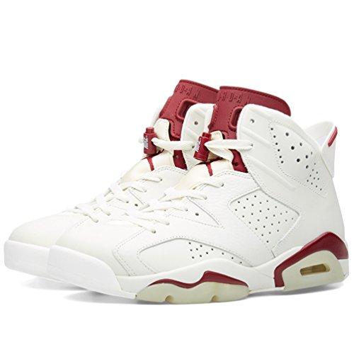 Nike Air Jordan 6 Retro, Chaussures de Sport Homme, Blanc, For Men
