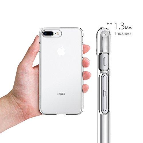 Coque iPhone 7 Plus, Spigen® [Thin Fit] Exact-Fit [Crystal Clear] Premium transparent Hard Housse Etui Coque Pour iPhone 7 Plus (2016) - (043CS20935) TF Transparent