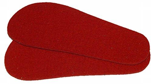 Mopu\'s® Krabbelschuhe - Einlegesohle aus Schurwollfilz in rot Stärke ca. 3,5mm