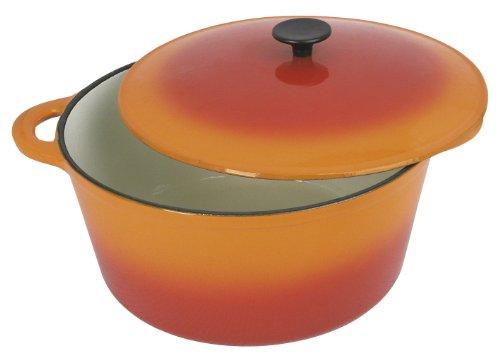 Tradifonte Crealys 501604 - Cocotte redonda de hierro fundido, diámetro de 26 cm, 5 l