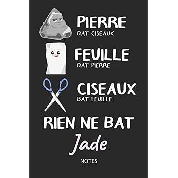 Rien ne bat Jade - Notes: Noms Personnalisé Carnet de notes / Journal pour les filles et les femmes. Kawaii Pierre Feuille Ciseaux jeu de mots. ... de noël, cadeau original anniversaire femme.