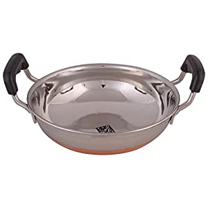 Klassic Vimal Stainless Steel Copper Bottom Kadai