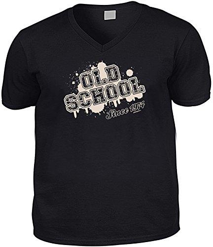 Cooles V-Neck - T-Shirt als Geschenk zum 42. Geburtstag - Top Funshirt - Goodman Design® Gr: Farbe: schwarz Schwarz