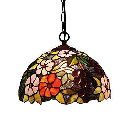 Led Tiffany Style Chandelier lámparas de Techo De Cristal teñido Europeo Retro,...